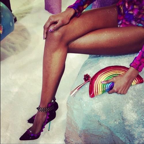 Sophia Webster Fall 2013 rainbow purse