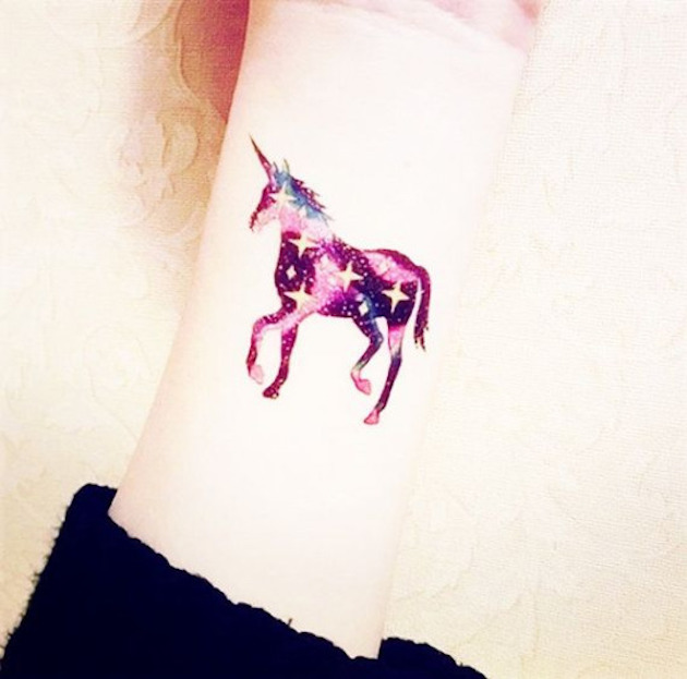 starry-wrist-unicorn-tattoo